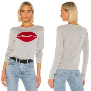 Splendid Bisou Bisou Lip Cashmere Blend Sweater